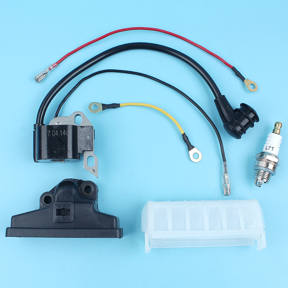 Ignition Coil & Air Filter & Spark Plug Kit Fit For STIHL MS210 ...