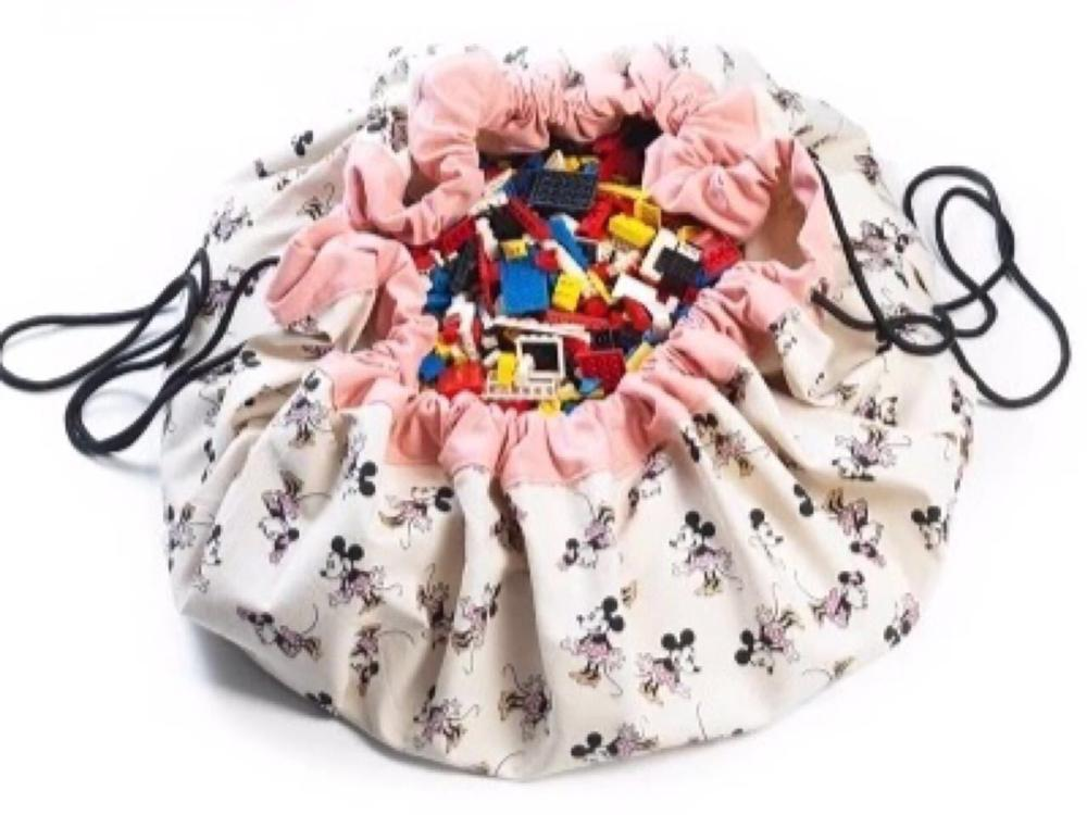 INS/Модная Детская сумка для хранения в виде мультяшных мышей и мышей из 3 стилей, плюшевые игрушки могут храниться как ковер - Цвет: pink girl