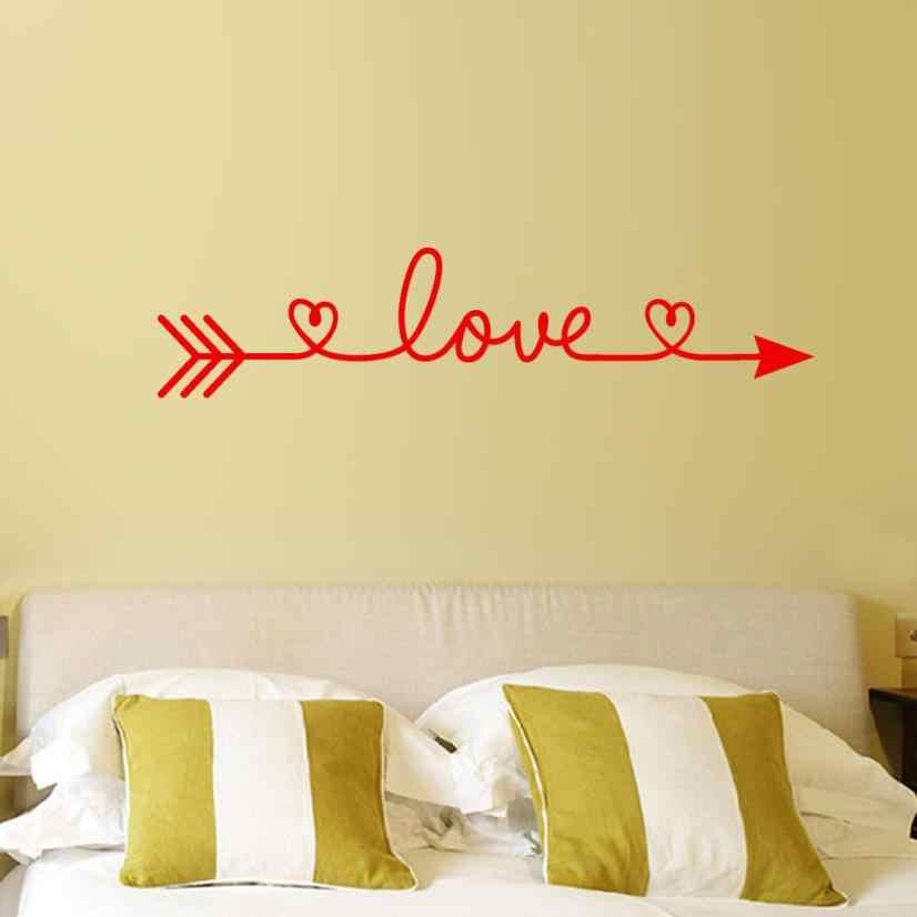 Amour flèche lettre motif autocollant MURAL amovible décor à la maison Art Viny salon MURAL décor MURAL Wandaufkleber 18July10