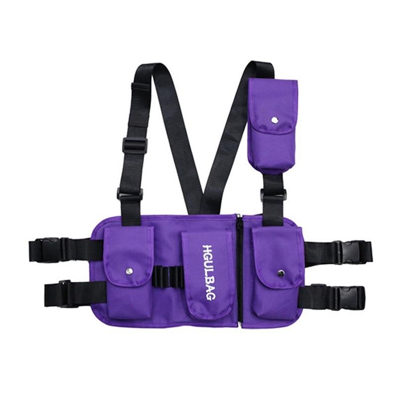 Hot Adult Chest Rig Waist Bag Streetwear Functional Tactical Hip Hop Shoulder Bag Multipurpose Sport Backpack Crossbody Bags Sturdy Construction