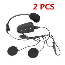 2PCS Motorcycle Bluetooth Helmet Headsets Intercom For 6 Riders Interphone Speaker Wireless Intercomunicador Interphone MP3 GPS