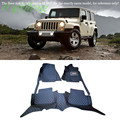 Interior Accessories Floor Mats & Carpets Foot Pads Protector For Jeep Wrangler 4dr 2007-2015