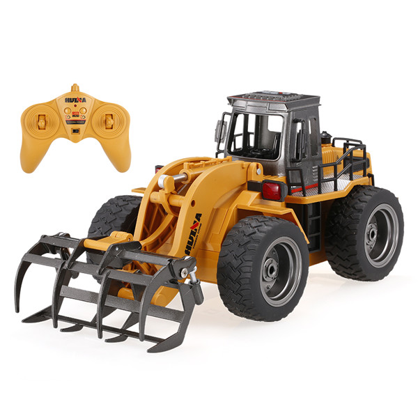 HuiNa Toys 1590 1/18 2.4Ghz 6CH Timber Grab Engineering Vehicles Alloy Engineering Series RC Car huina 1586 1 18 6 channels 2 4g engineering truck snowplows alloy rc car toys