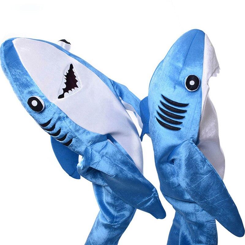 Взрослый детский синий костюм акулы вечерние костюм талисмана животного комбинезон Хэллоуин нарядное платье Комбинезоны для мужчин и женщ...