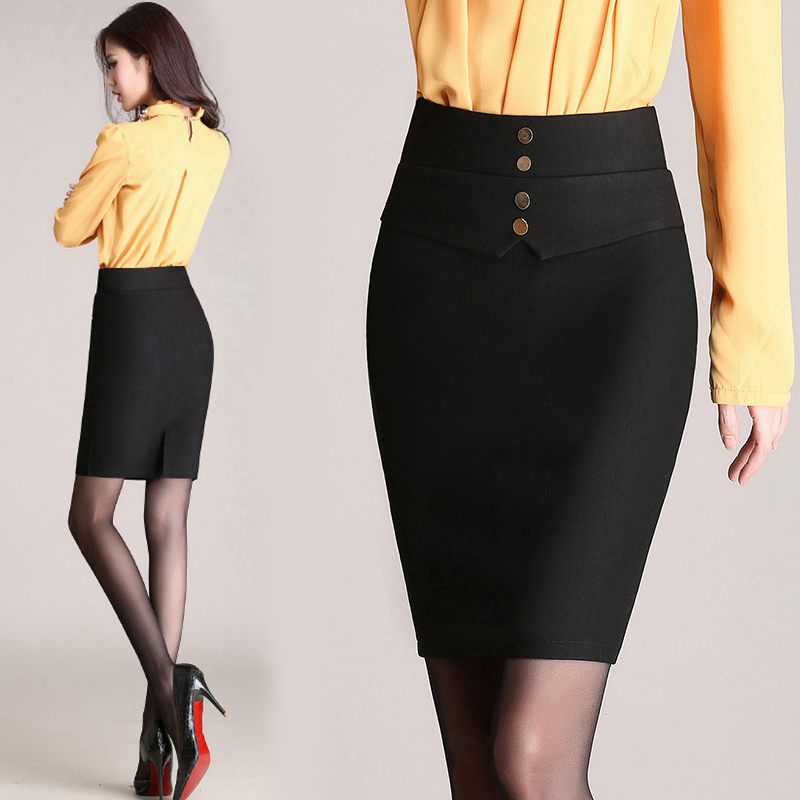 Black Tight Skirt - Skirts