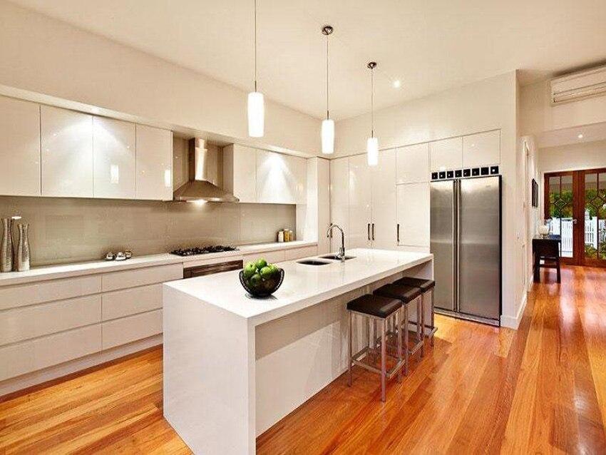 White Modern Kitchen Cabinet