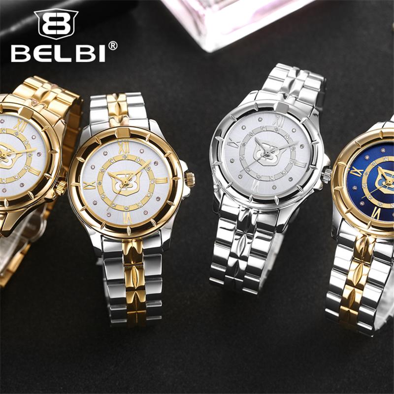 Top Brand BELBI Women Watch Diamond Dress Watches High Quality Luxury Rhinestone Lady Wristwatch Quartz Watch Hodinky Women