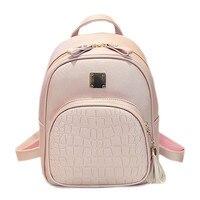 Fashion Women Alligator Backpacks For Teenage Girls Sac A Main Designer High Quality Stone Backpack School