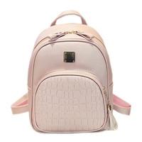 Fashion Women Alligator Backpacks For Teenage Girls Sac A Main Designer High Quality Stone Backpack School Bag Mochilas Escolar