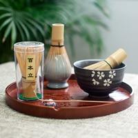 Japanische Matcha Bambus Pinsel Tee Set Japan Tee Set Tee Zubehör Kung Fu Teetasse Werkzeuge-in Teegeschirr-Sets aus Heim und Garten bei