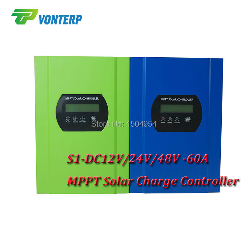 60A MPPT solar charge controller Tracer with RS232 LCD display 12V 24V 48V auto work,Max Pv input 150V