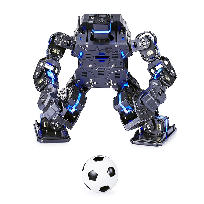 2018 New Product DIY Dancing Combat Fighting Projects 18DOF Humanoid Robot Biped Robot Assembled Smart Educational Robot new 17 degrees of freedom humanoid biped robot teaching and research biped robot platform model no electronic control system
