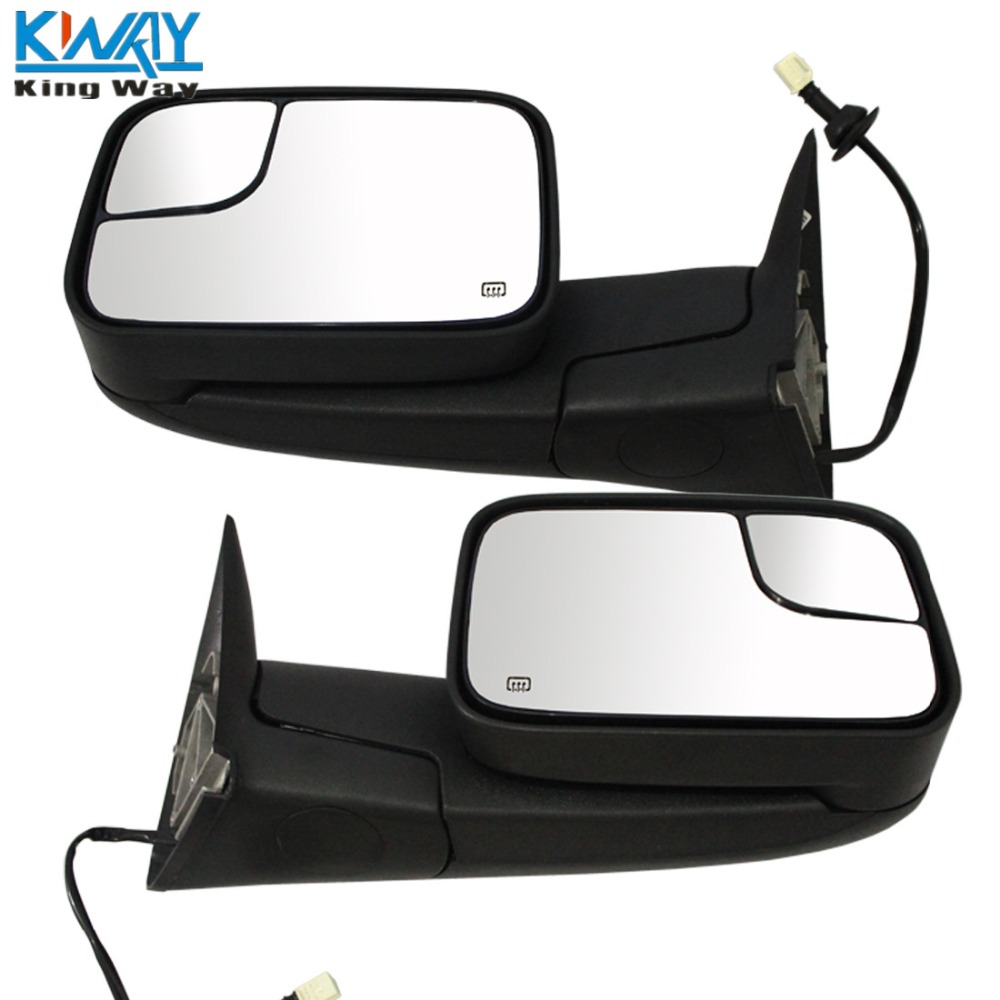 Pair Power+Heated Flip Up LED Signal Towing Side Mirror for 98-02 Ram 2500 3500