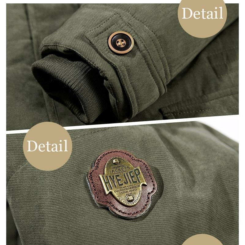 High Quality Men's Windbreaker Fleece Cotton Winter Jacket 11