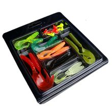 25Pcs / lot Soft Fishing Lures Set Worm Lure Set Head Jig Hooks Fishing Baits Set Tackle Fishing Accessories стоимость
