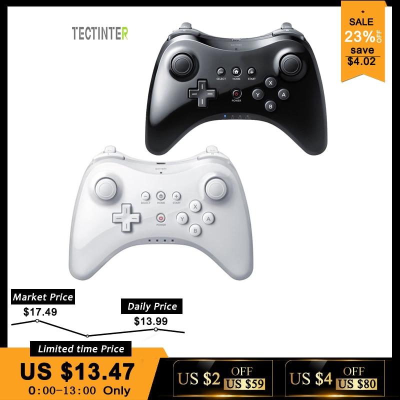 Para Nintend para Wii U Pro Controller USB clásico doble analógico Bluetooth inalámbrico remoto Control para WiiU Pro U Gamepad