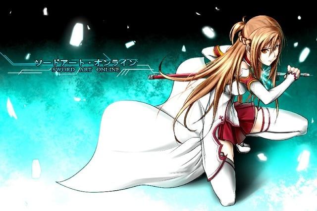 Diy Frame Sword Art Online Japan Hot Comics Anime Poster Asuna