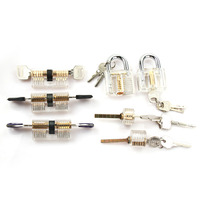 Hot Sale 7pcs Transparent locks Combination Practice Locksmith Training Tools Visible Lock Pick Sets