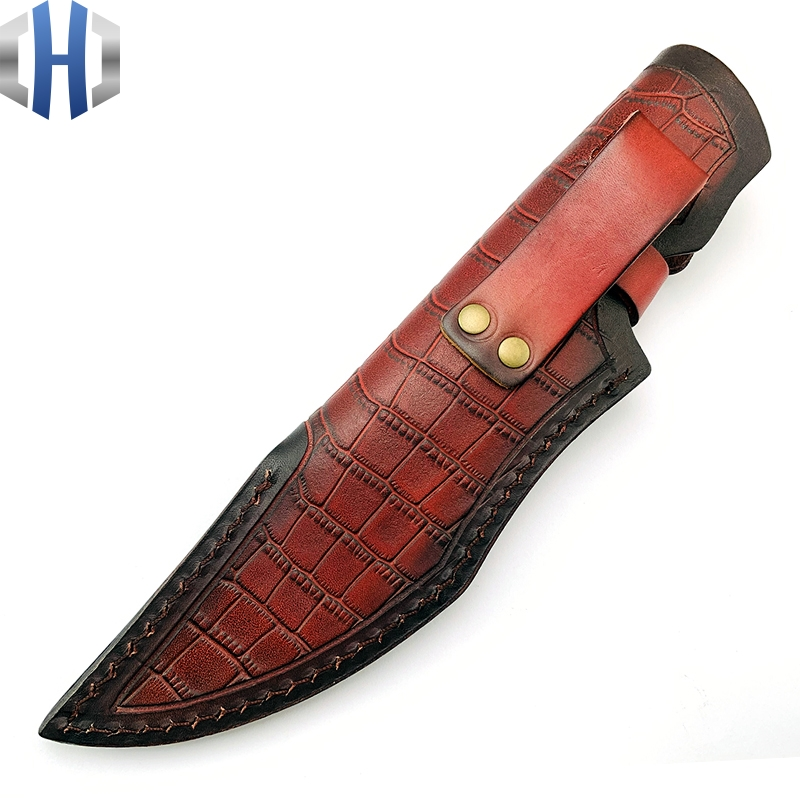 Italian Vegetable Tanning Leather Topcoat Cowhide Knife Sheath Sheath Universal Cowhide Custom Knife Sheath Outdoor in Knives from Tools