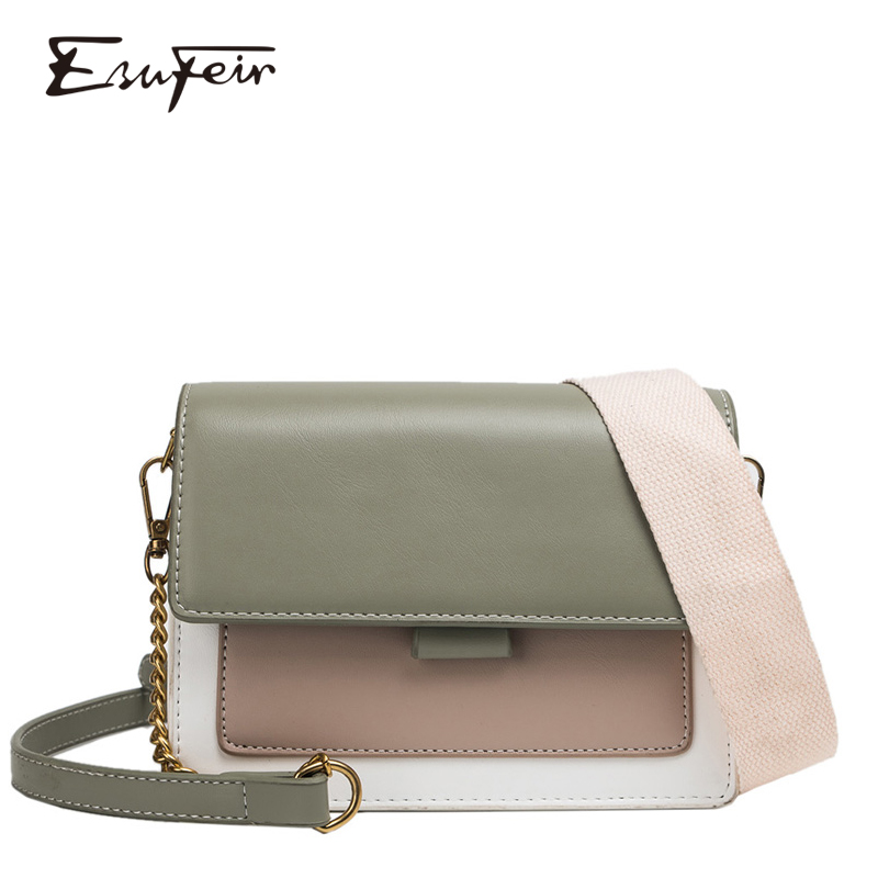 New 2019 PU Women Fashion Cross-body Bag Famous Brand Chain Female Shoulder Bag Small Flap Cover Messenger Bag Bolsas Feminina