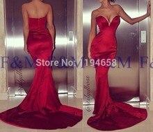2016 Sexy Lady New Fashion Classic Schatz Red Mermaid Sleeveless Lange Hochwertigen Bodenlangen Pageant Abendkleider