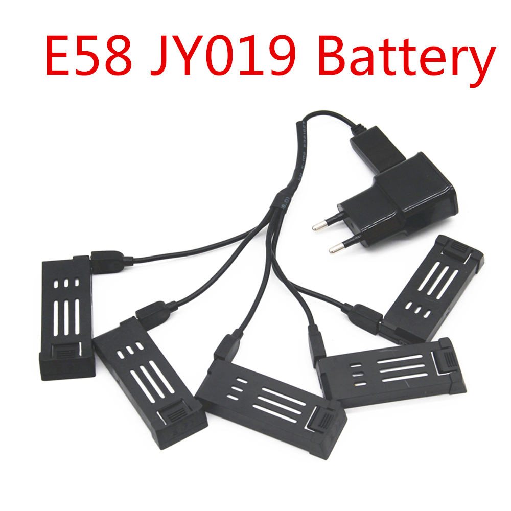 <font><b>battery</b></font> for E58 JY019 RC Quadcopter Spare Parts Accessories <font><b>3.7V</b></font> <font><b>500mAh</b></font> <font><b>Lipo</b></font> <font><b>Battery</b></font> Rechargeable for RC Drones image
