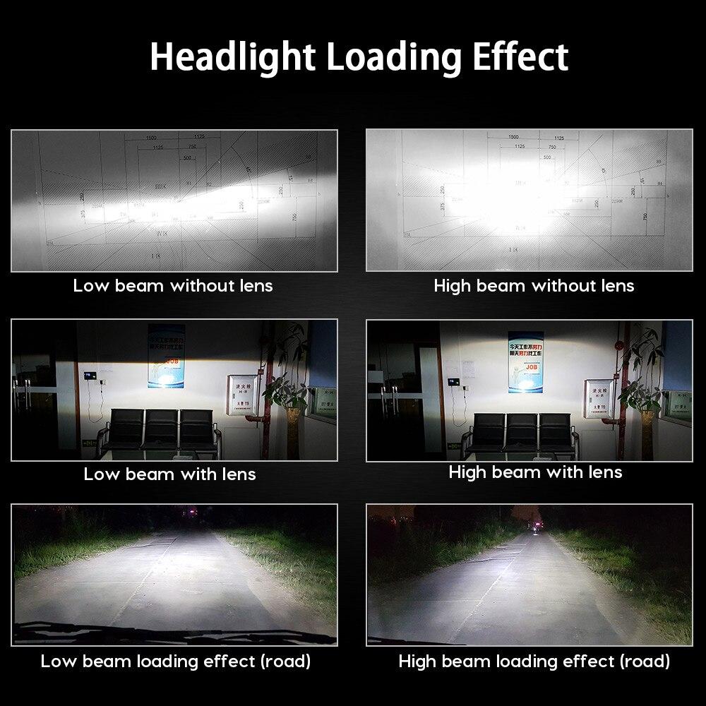 Zdatt Fanless Voiture lumière Led ZES 100 W 12000LM Phares H4 Ampoule Led H1 H7 H8 H11 9005 HB3 9006 HB4 12 V Auto Lampe 2nd Puce Canbus - 6