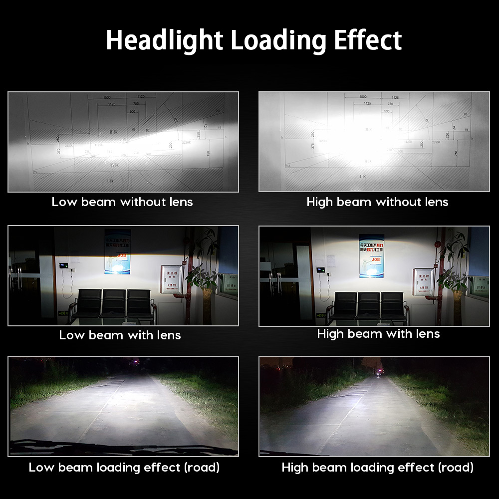 Image 5 - Zdatt H7 Led Headlights H11 H4 12v LED Bulb lampadas Canbus H8 H9 9005 HB3 9006 HB4 ZES Fanless Car Light 100W Auto Fog Lamp-in Car Headlight Bulbs(LED) from Automobiles & Motorcycles