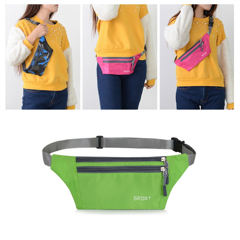 19 Colors Small Running Waist Bag Waterproof Unisex Sports Pack Lightweight Phone Cash Keys Outdoor Hiking Travel Bag