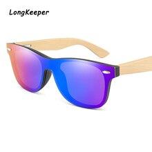 Bamboo Glasses Men Sunglasses One-piece Driving Women Mirror Oversized Rimless Square Sun glasses