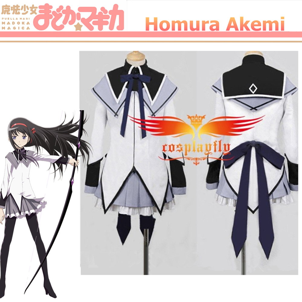 Puella Magi Madoka Magica Homura Akemi Cosplay Costume Custom Women Shirt Lavender Dress Plus Size Girl
