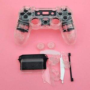 Image 5 - YuXi Sony Playstation 4 Için PS4 Dualshock 4 Eski Sürüm Gamepad Denetleyici Şeffaf Temizle Ön Arka Konut Shell Kılıf Kapak