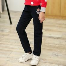 Платья Корея stype медведь случайные прямые брюки осень зима осень брюки девушка хлопок брюки для девочек 3 4 5 6 8 9 10 года