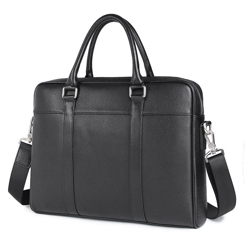 Genuine Leather Handbag Male Fashion Briefcase Laptop Bag Business Travel Bag Messenger Bag 7401A