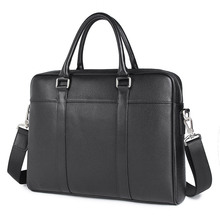 Genuine Leather Handbag Male Fashion Briefcase Laptop Bag Business Travel Messenger 7401A
