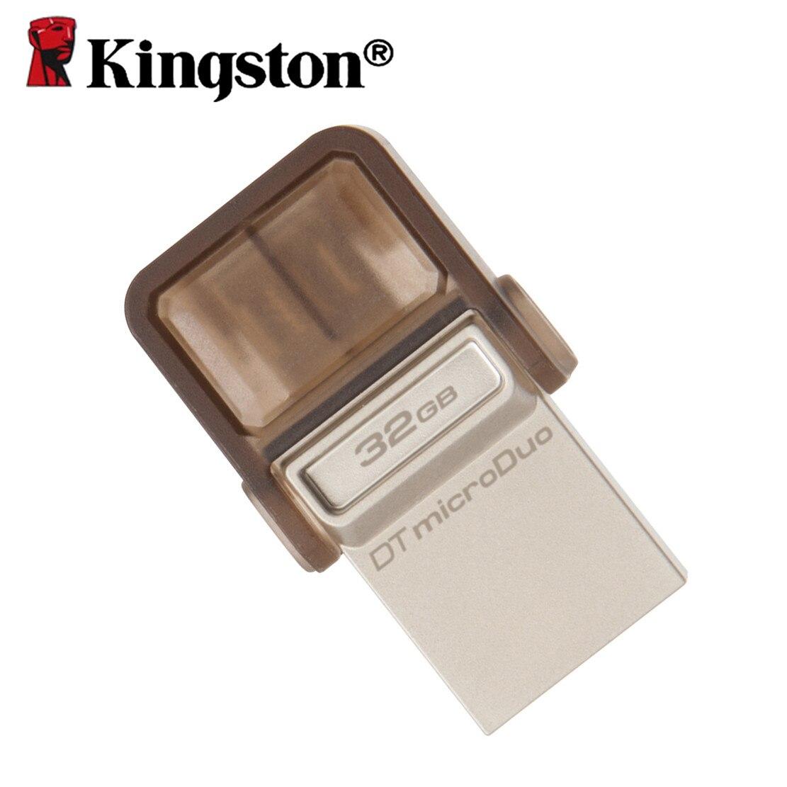 Kingston OTG usb 2.0 clé USB clé usb Smartphone Micro mémoire stylo lecteur 16 gb 32 gb 64 gb USB Portable clé de stockage microDuo