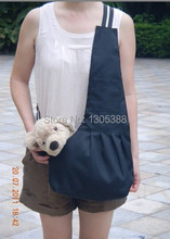 New Black  Canvas Pet Sling Dog Cat Carrier Bag Free Shipping by CPAM Bag for dog