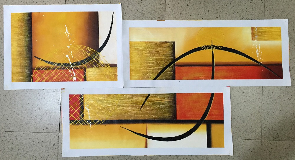 Aliexpress.com : Buy Multi Piece 3 Panel Wall Art Abstract Paintings Modern  Oil Painting On Canvas Home Decoration Living Room Pictures Handpainted  From ... Part 39