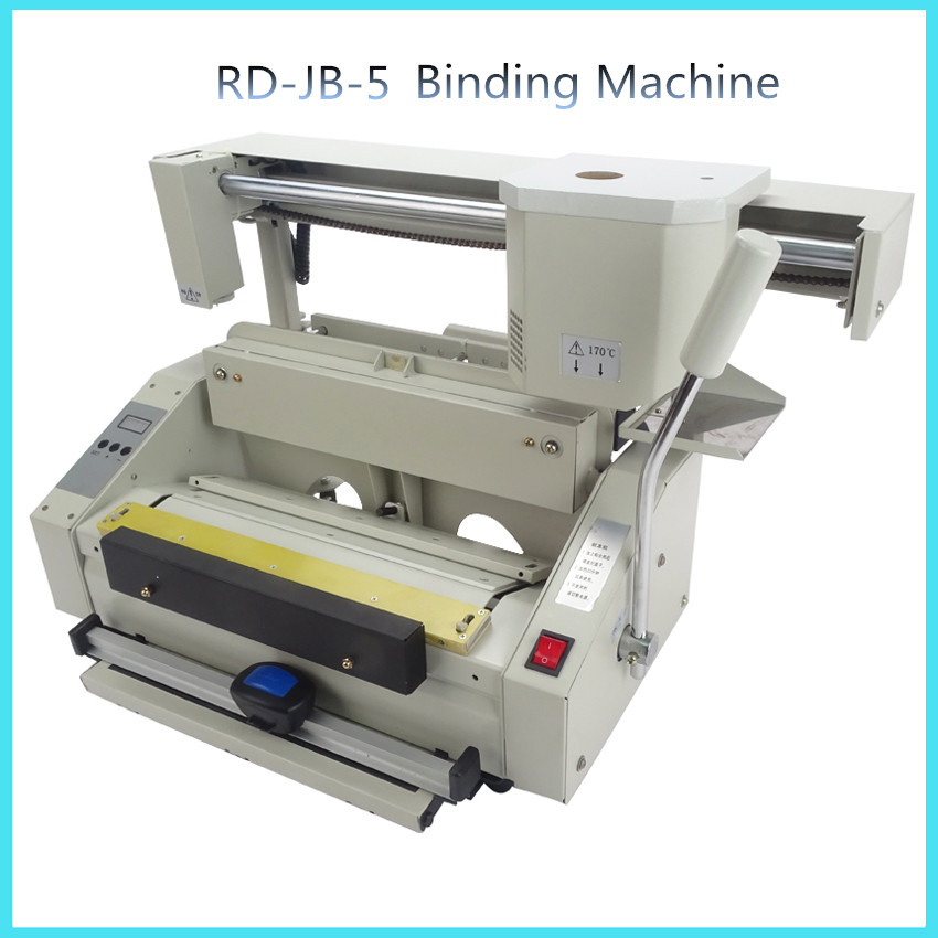 rd jb 5 desktop glue book binding machine glue book binder machine hot melt glue binding machine. Black Bedroom Furniture Sets. Home Design Ideas