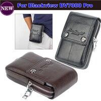 2017 حار! جلد طبيعي حمل حزام كليب الحقيبة الخصر محفظة حقيبة الهاتف المحمول قضية غطاء ل blackview BV7000 الحرة وانخفاض الشحن
