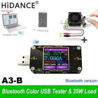 USB and Type c tester Wireless Bluetooth DC Digital voltmeter current voltage meter detector power bank + 35w Adjustable load