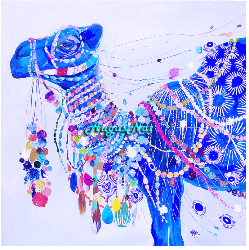 DIY 5D Diamond Painting Animal  Full Round Drill Rhinestone Drawing Picture Kits