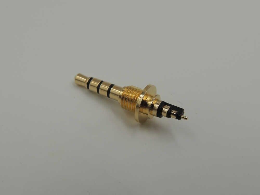 10 шт./лот Позолоченные 3,5 мм 4-полюсный автоматический угловой штыревой соединитель контактный разъем с резьбы