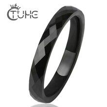 3 мм светильник, черно-белые керамические кольца для мужчин и женщин, гладкая поверхность, керамические ювелирные изделия, мужское кольцо, модное обручальное кольцо