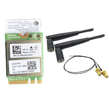 5dbi RP-SMA MHF4 Antennas set + Atheros QCNFA364A 802.11ac 867Mbps bluetooth BT 4.1 Wifi NGFF M.2 adapter card 867M WCBN808A