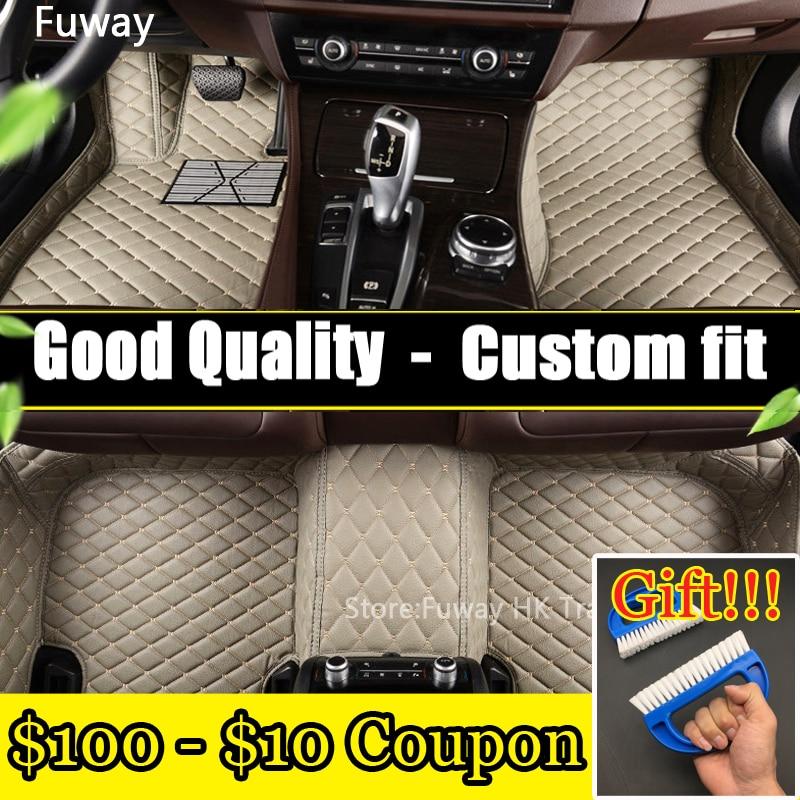 high strength pedal Custom fit car floor mats leather for Toyota corolla Reiz RAV4 Camry 3D car styling carpet liner waterproof