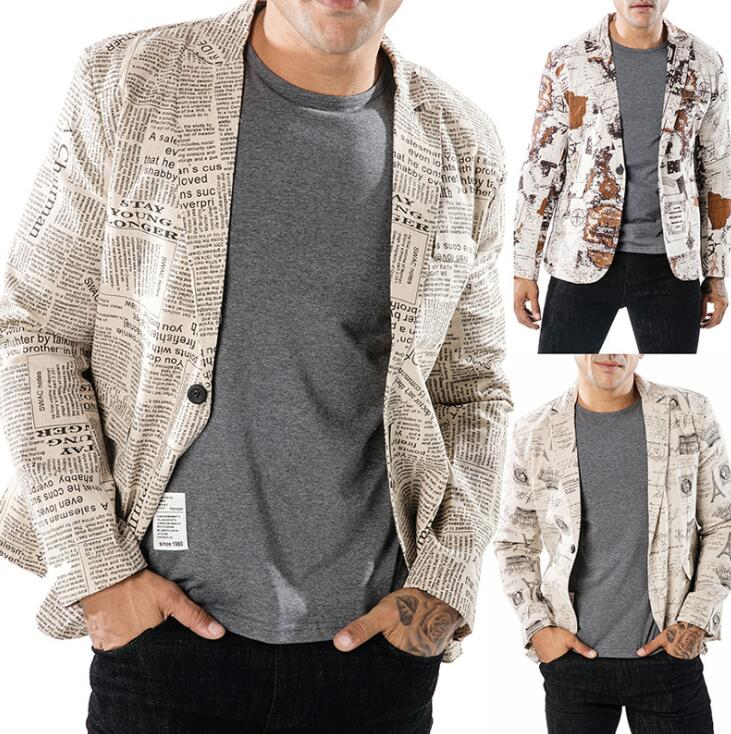 Fashion blazer men suits designs Imitation linen fabric style design a buckle jacket mens costumes clothes masculino homme in Blazers from Men 39 s Clothing
