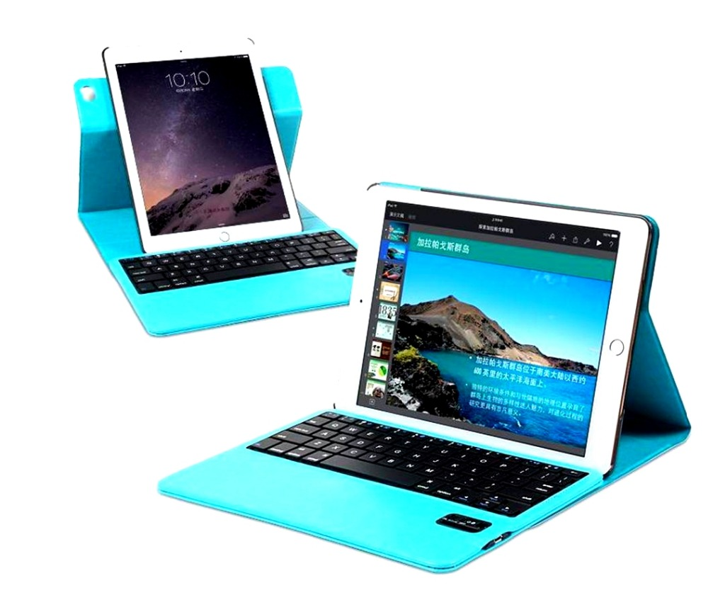 2 in 1 Luxury 360 Degree Rotating Leather Case Wireless Bluetooth Keyboard for ipad mini 1 2 3