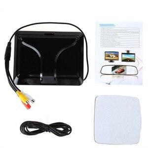 """Image 5 - ANSHILONG Monitor LCD plegable de 5 """"para coche, Monitor retrovisor para cámara de Vista trasera de coche"""