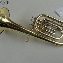Flugelhorn Gold B плоская Bb профессиональная ТРУБА Топ Музыкальные инструменты в Медная Труба Рог